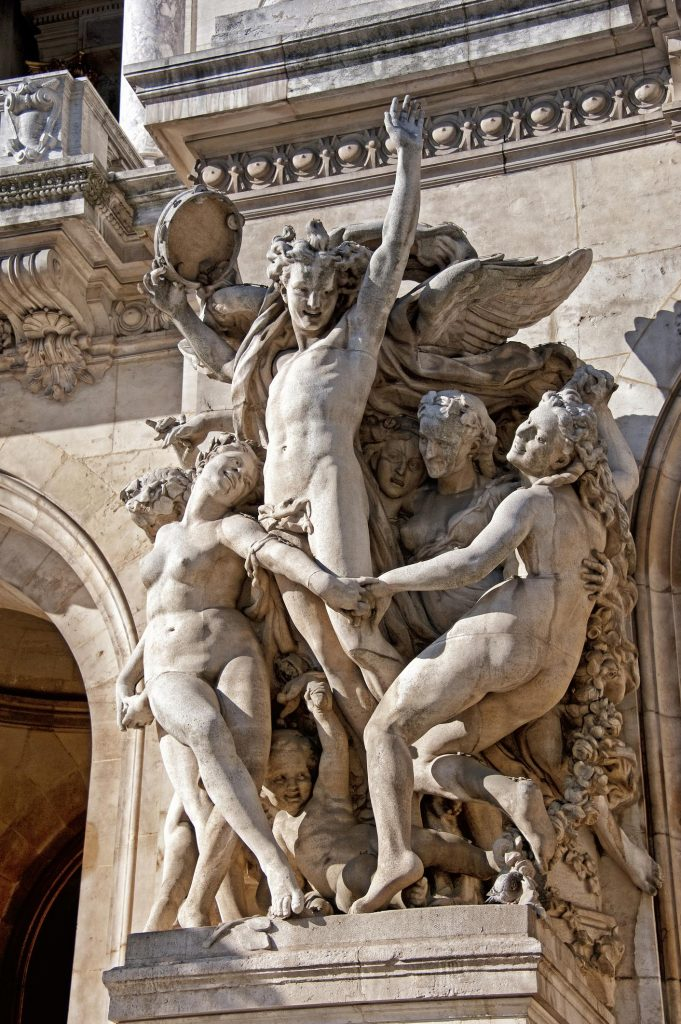 """The Dance"" is a statue by Jean Baptiste Carpeaux - Opéra garnier MALLE ETHNIK - Conciergerie"