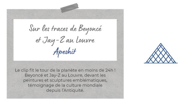 Le clip fit le tour de la planète en moins de 24h ! Beyoncé et Jay-Z au Louvre, devant les peintures et sculptures emblématiques, témoignage de la culture mondiale depuis l'Antiquité.