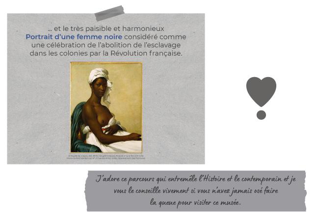 ... et le très paisible et harmonieux Portrait d'une femme noire considéré comme une célébration de l'abolition de l'esclavage dans les colonies par la Révolution française.